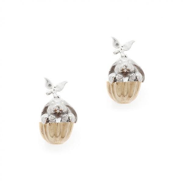 Rabbit tea party earrings