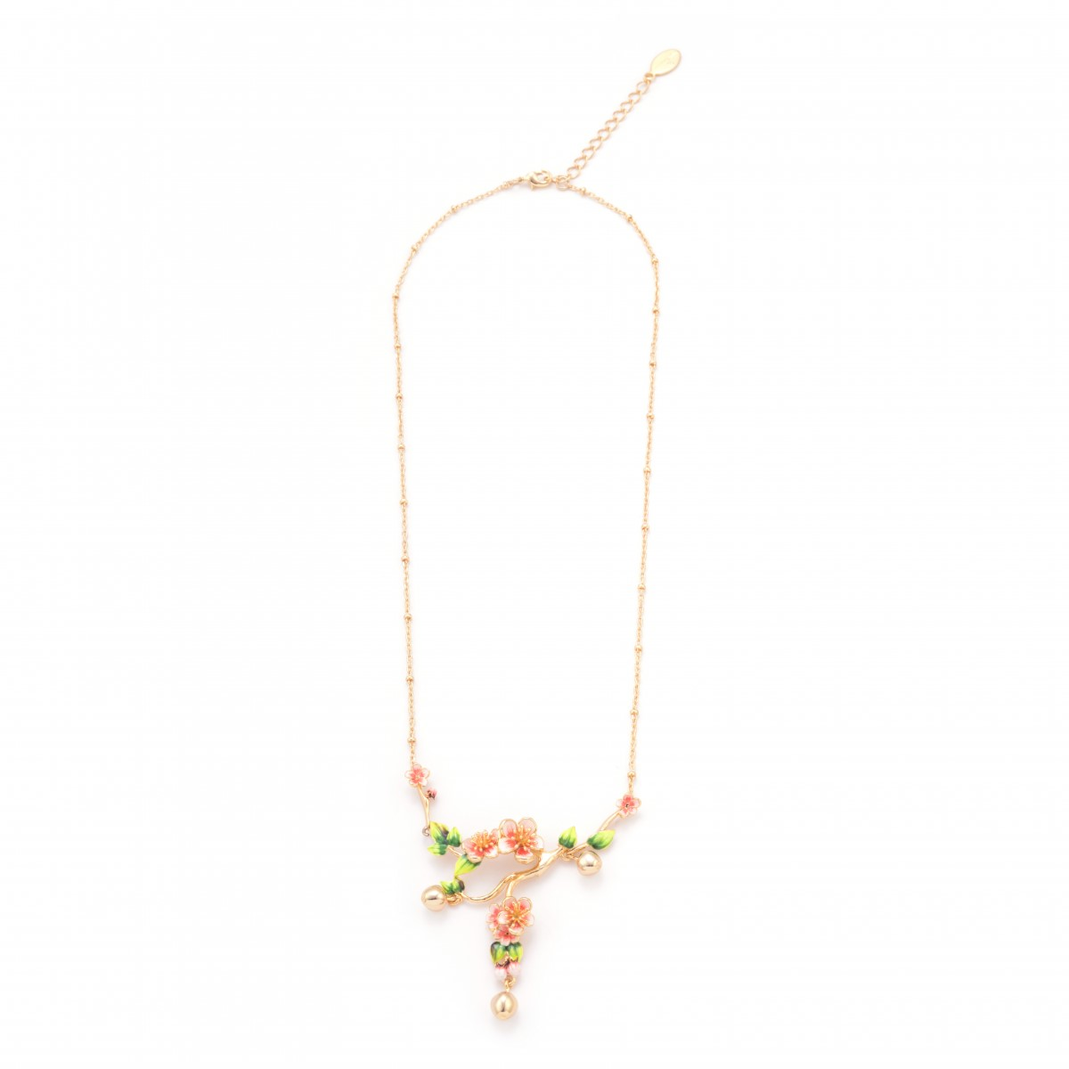 Apple blossom statement gold necklace