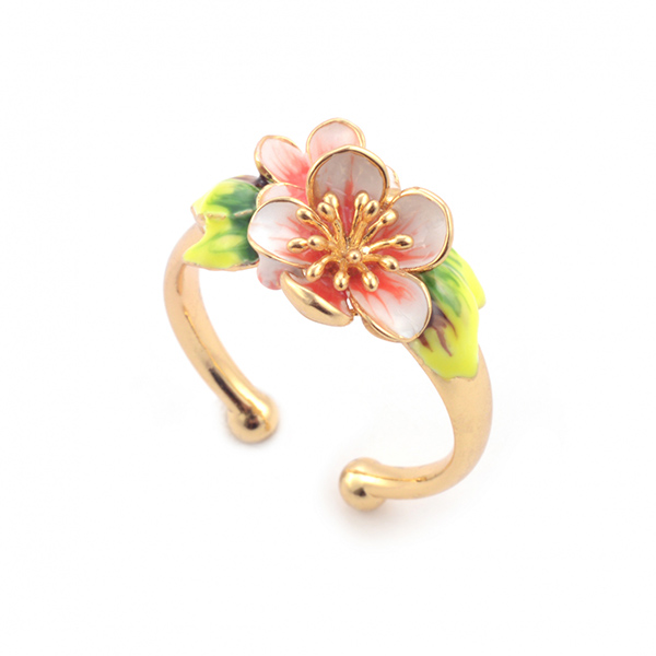 Apple blossom gold plated ring