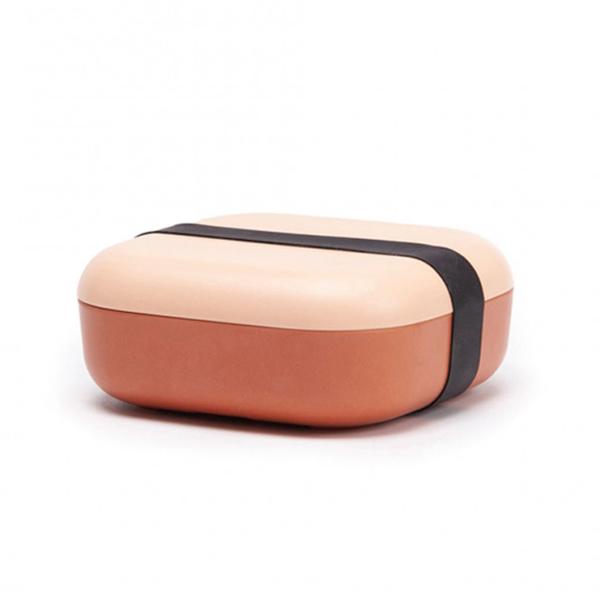 Bamboo fibre reusable blush/terracotta snack box