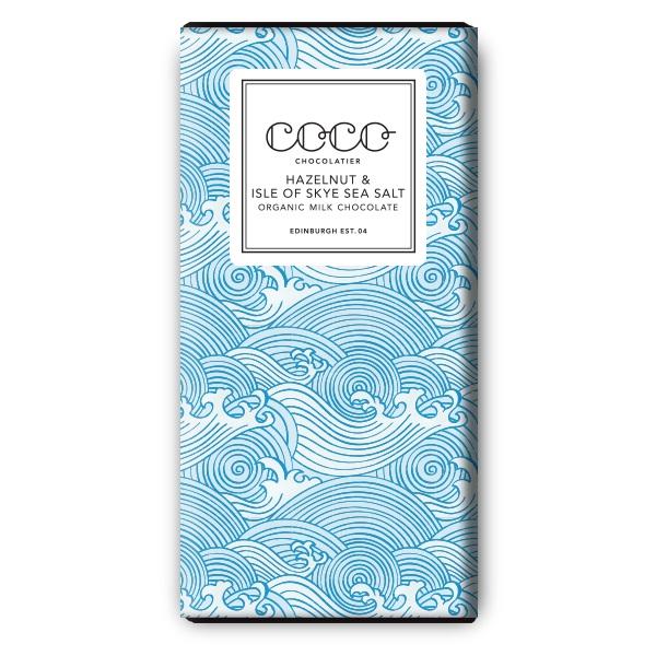 Coco Chocolatier Hazelnut & Isle of Skye Sea Salt Milk Chocolate