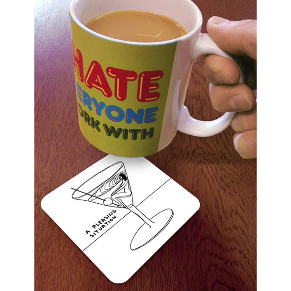 A pleasing situation by David Shrigley coaster
