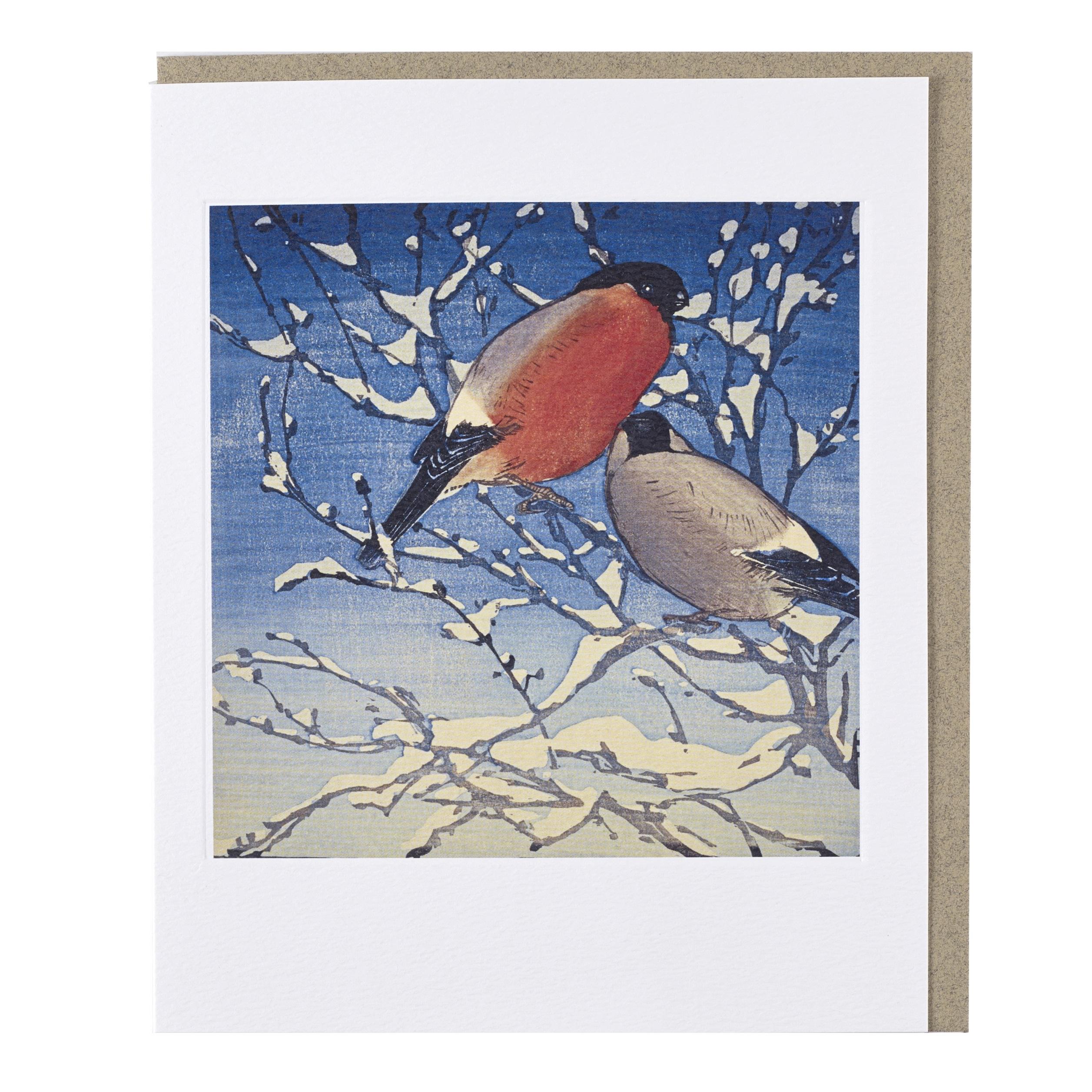 Bullfinches Allen William Seaby Greeting Card