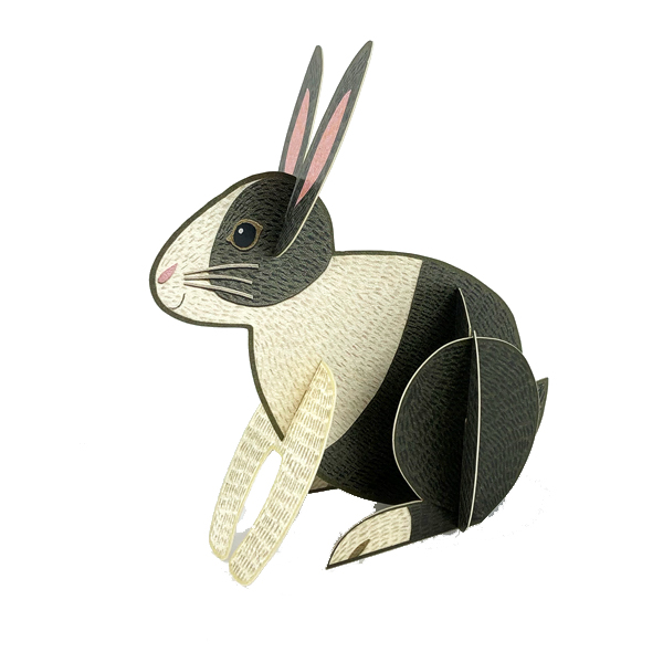 Rabbit by Alice Melvin pop out greeting card