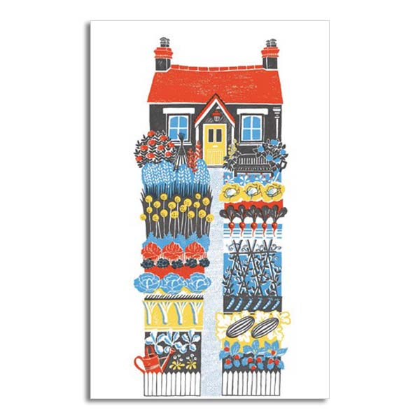The vegetable garden greeting card