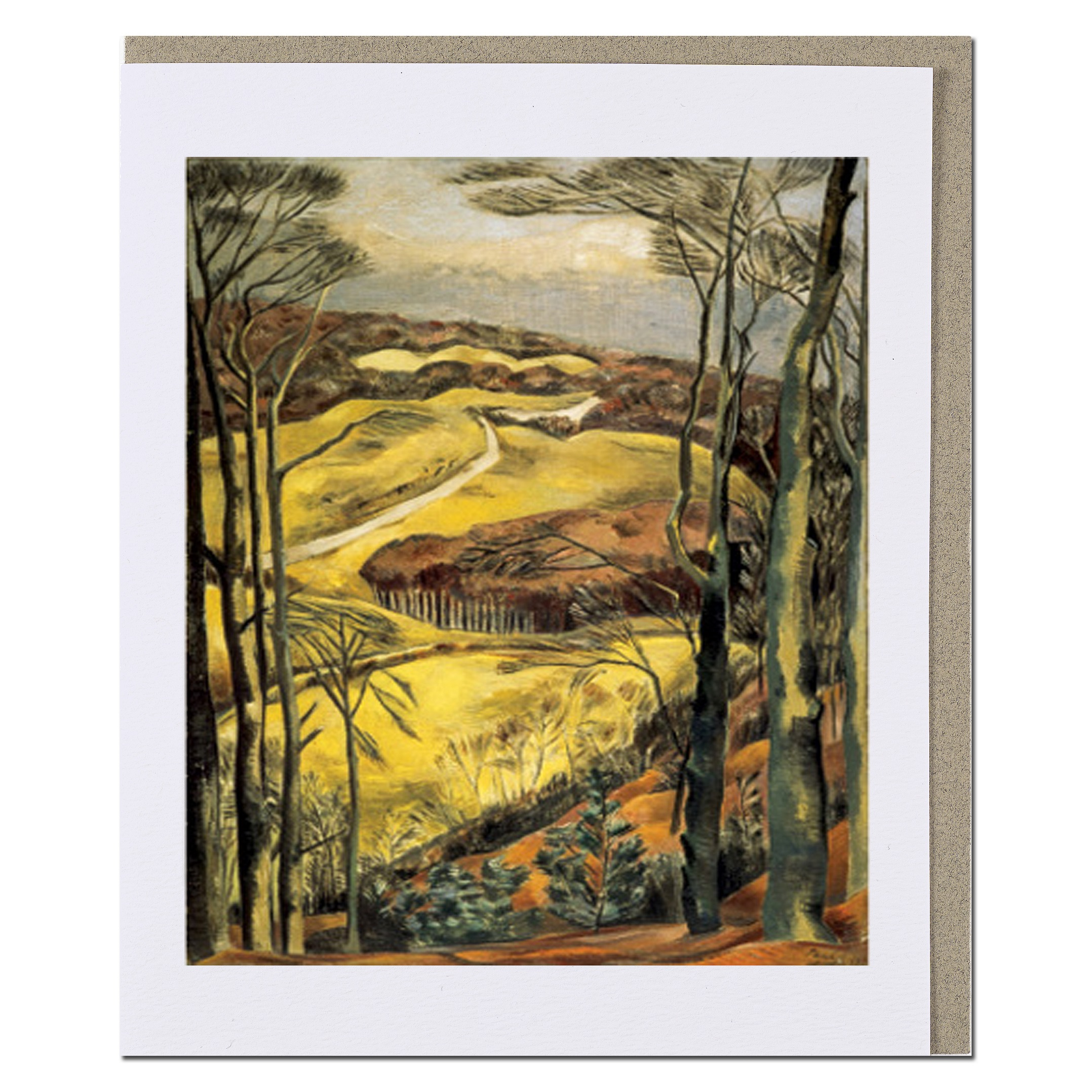 Berkshire Downs Paul Nash Greeting Card