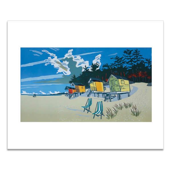 The beach at Wells greeting card