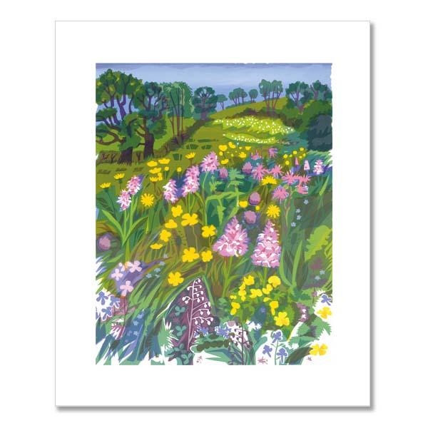 A rare meadow greeting card