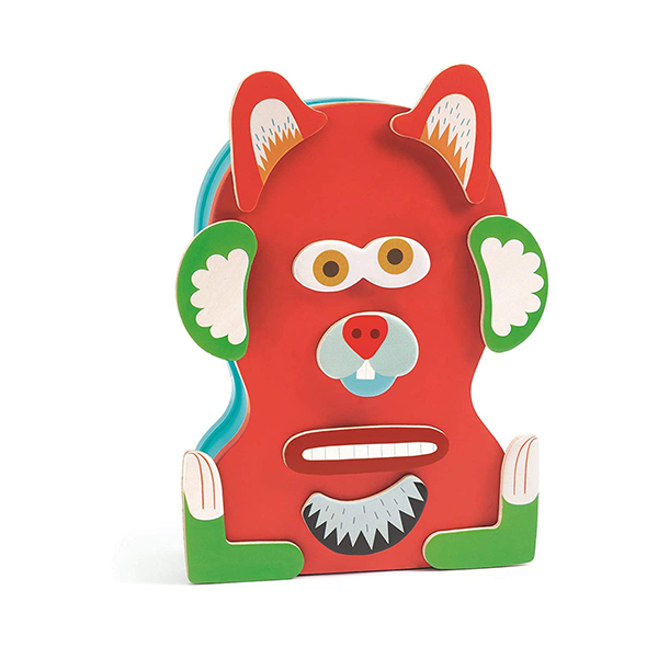 Monstro wooden magnetic playset