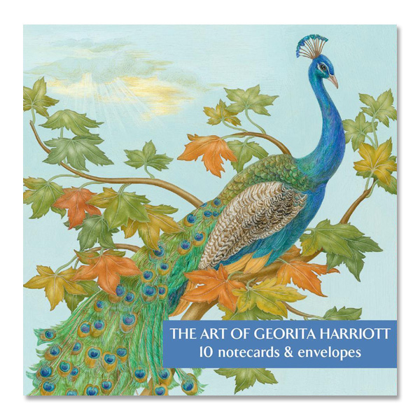 Georita Harriott botanical art square notecard set (10 cards)