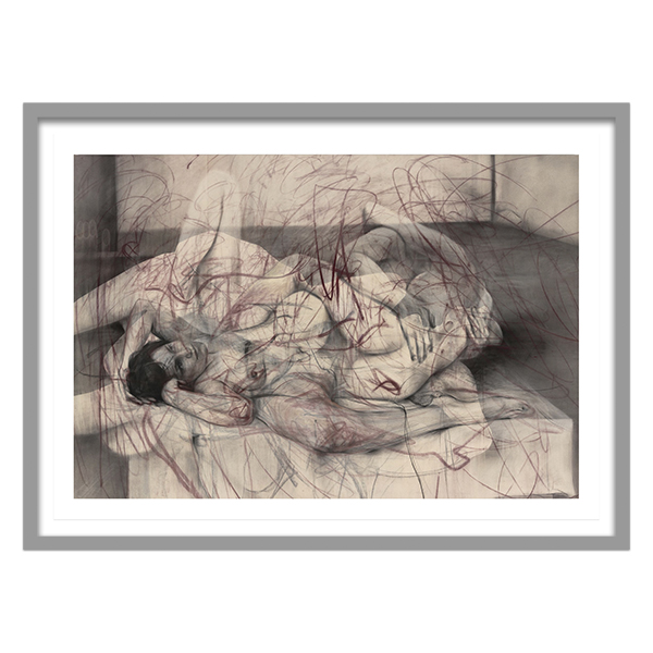 One out of two (symposium) by Jenny Saville framed limited edition print (Delivery UK only)