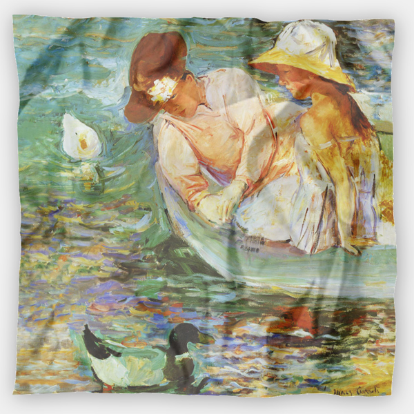 Summertime by Mary Cassatt silk scarf
