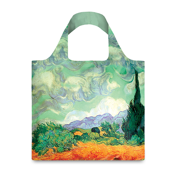 A Wheatfield, with Cypresses by Vincent van Gogh reusable water-resistant carrier bag