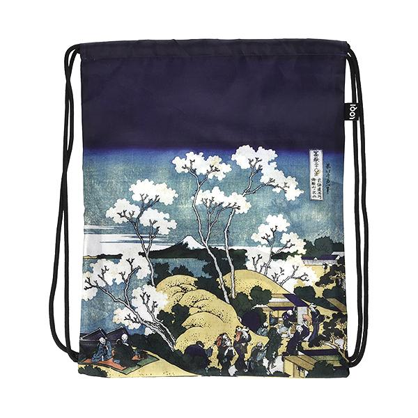 Fuji from Gotenyama by Katsushika Hokusai LOQI water-resistant backpack