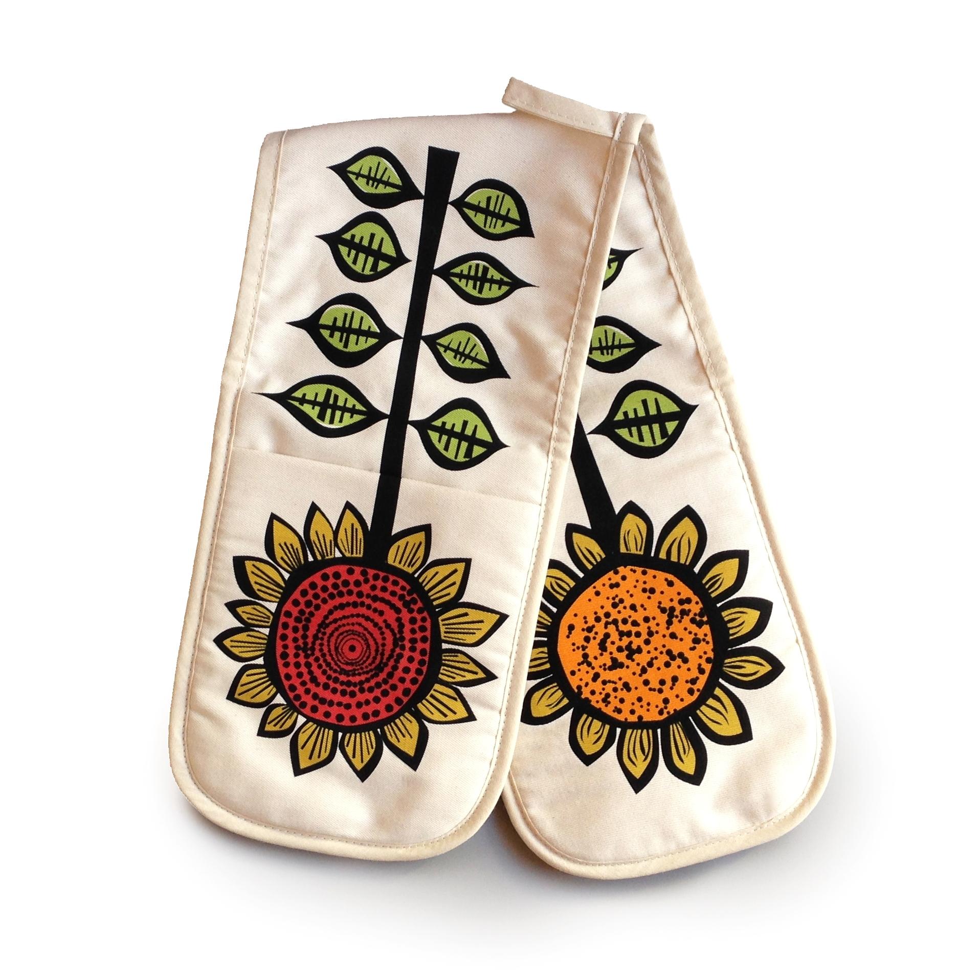 Hannah Turner Sunflower Double Oven Gloves