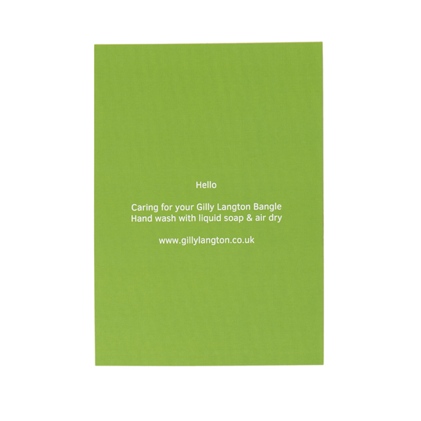 Gilly Langton Lime Green Loop Ring