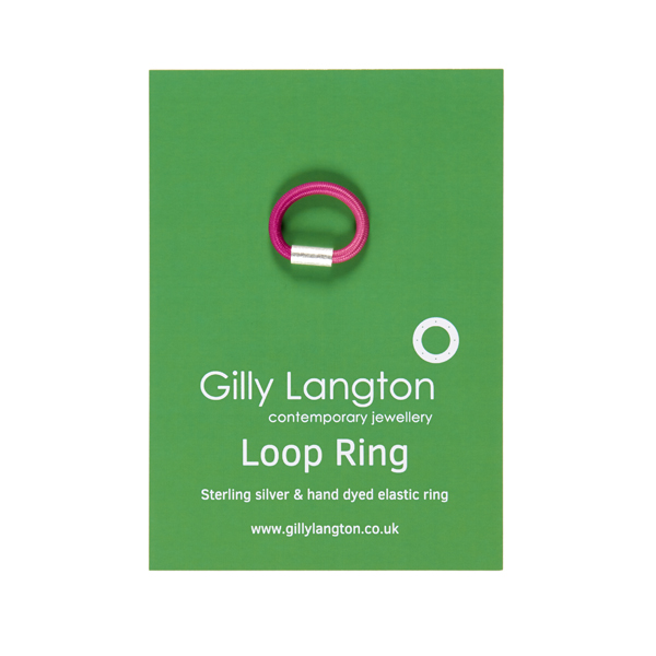 Gilly Langton Baby Cerise Loop Ring