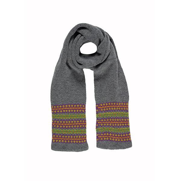100% pure new wool Lewis platinum scarf