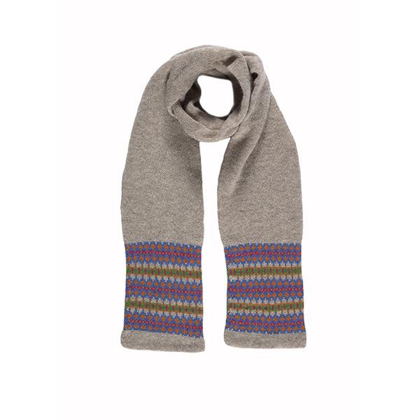 100% pure new wool Lewis cobalt scarf