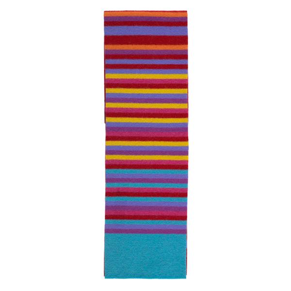 100% pure new wool stripe pattern Bellany red slim scarf