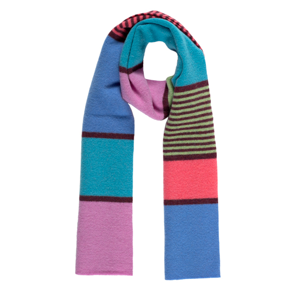 100% pure new wool watercolour stripe pattern scarf