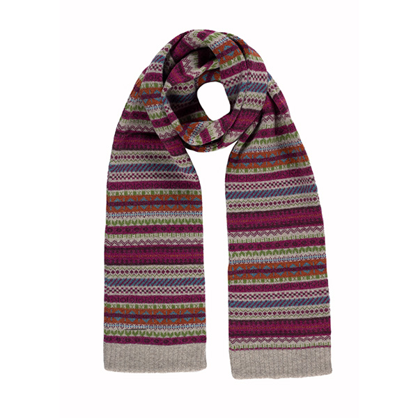 100% pure new wool staffa raspberry scarf