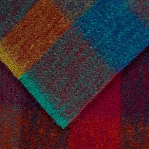 Luxurious mohair mosaic pattern alba maple throw