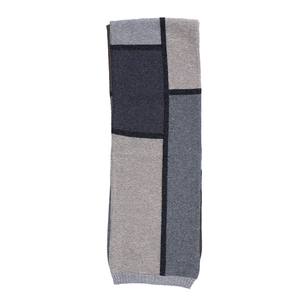 100% pure new wool collage marble scarf