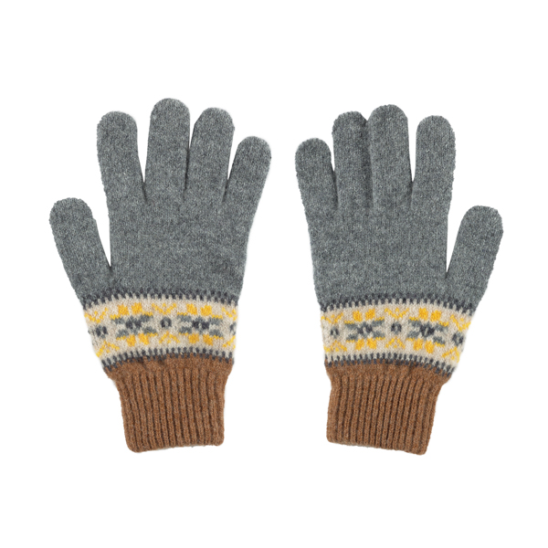 100% pure new wool Islay pattern quicksilver gloves
