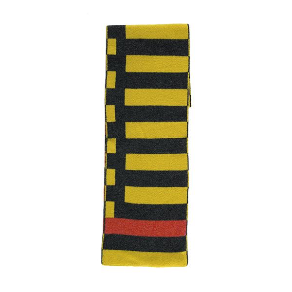100% pure new wool Bauhaus mimosa scarf
