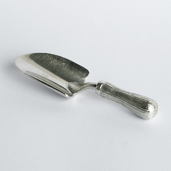 Pewter hand-crafted trowel spoon