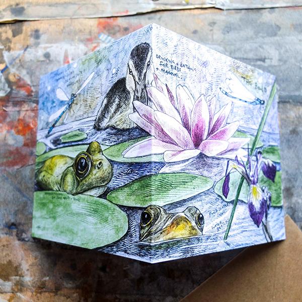 The pond greeting card by Hannah Longmuir