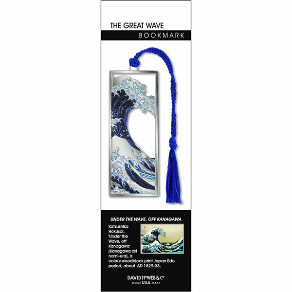 The Great Wave by Hokusai brass bookmark