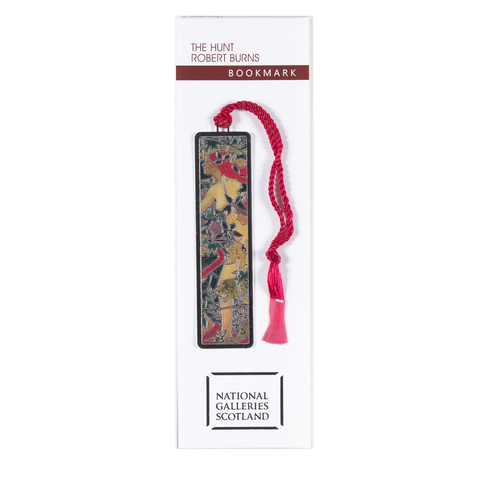 The Hunt by Robert Burns brass bookmark