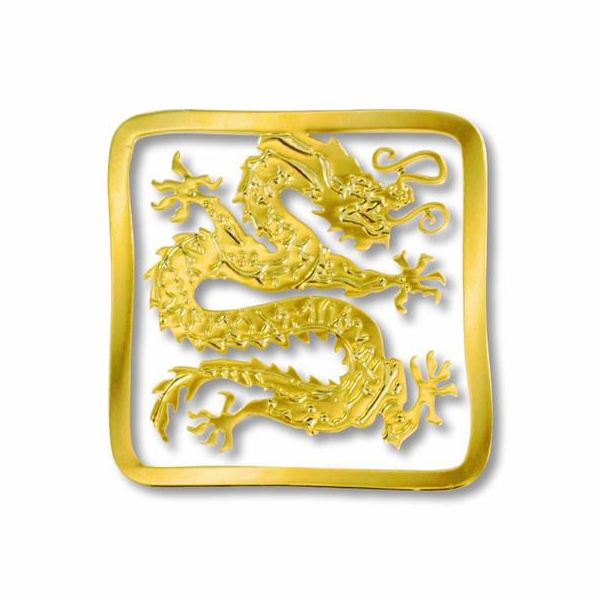 Chinese dragon brass bookmark