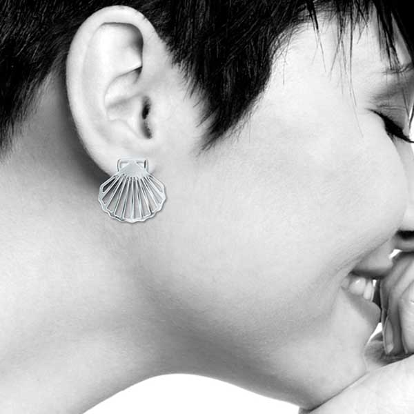 The birth of Venus scallop shell earrings