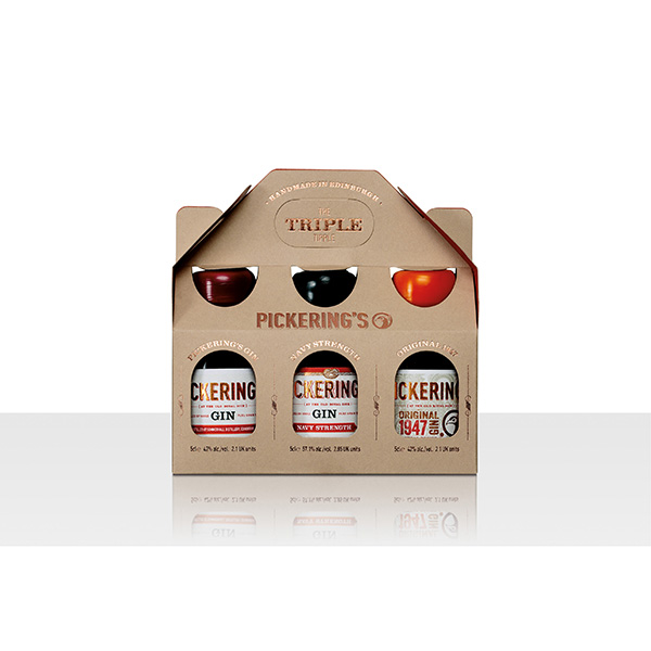 Pickering's Gin Triple Tipple Gifting Pack (3 x 5cl– UK sale only)