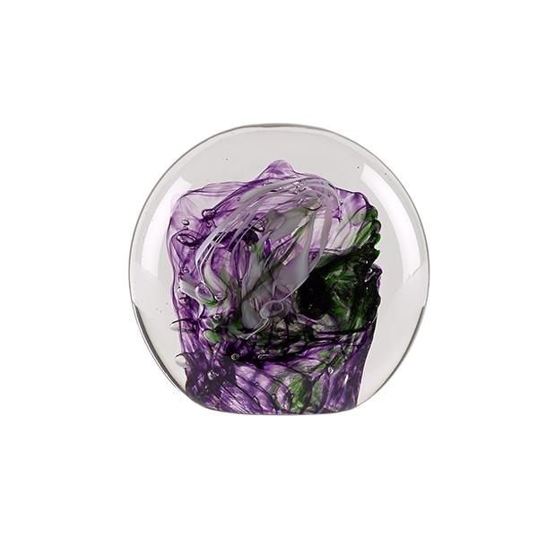 Purple and green sea handmade paperweight