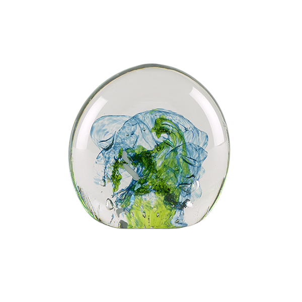 Blue and green sea handmade paperweight
