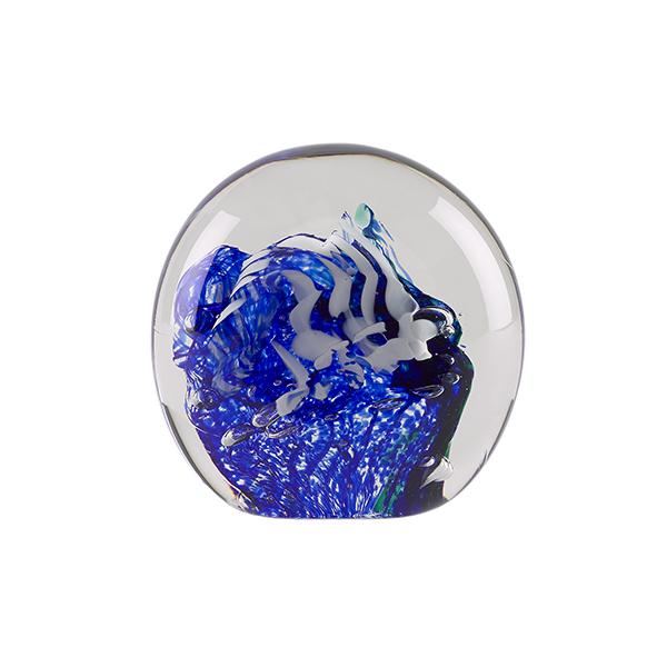 Dark blue and smoke sea handmade paperweight