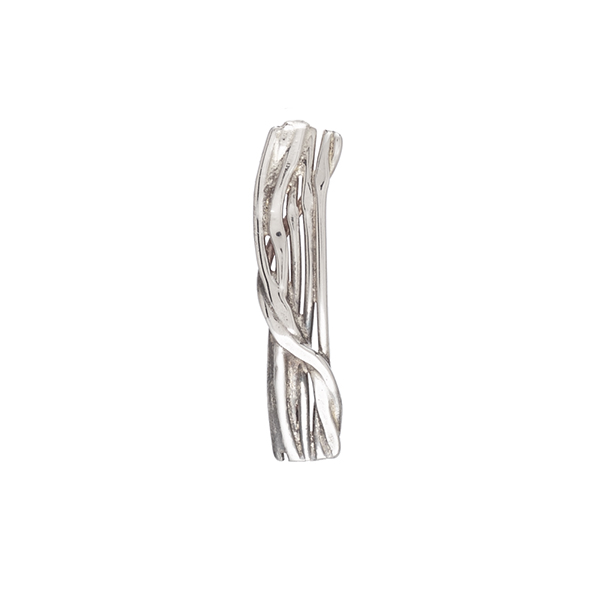 Melt rectangular silver brooch