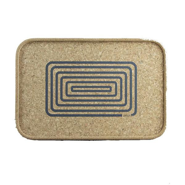 Grey orbit cork tray