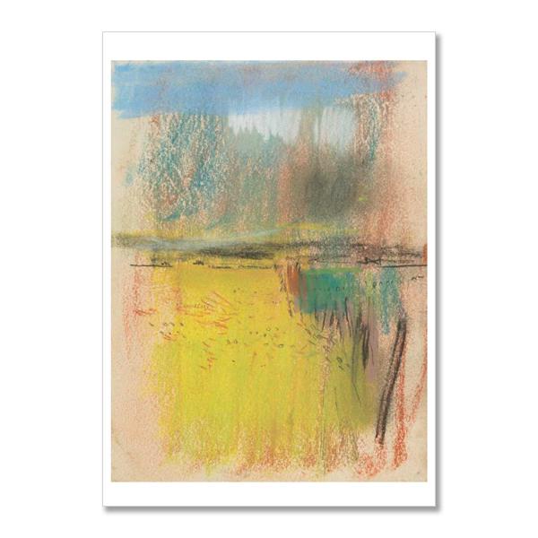 Cornfield and Wide Horizon by Joan Eardley A5 postcard