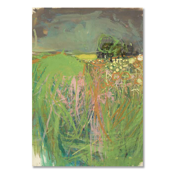 Hedgerow with Grasses and Flowers by Joan Eardley greeting card