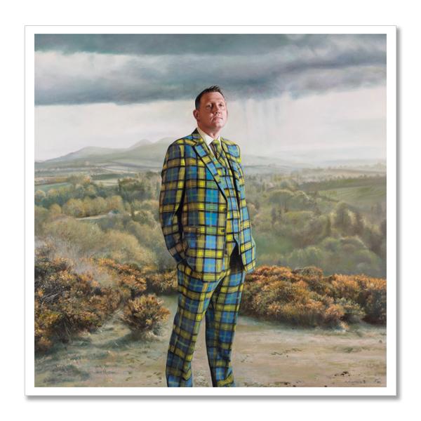 Doddie Weir by Gerard M Burns square postcard