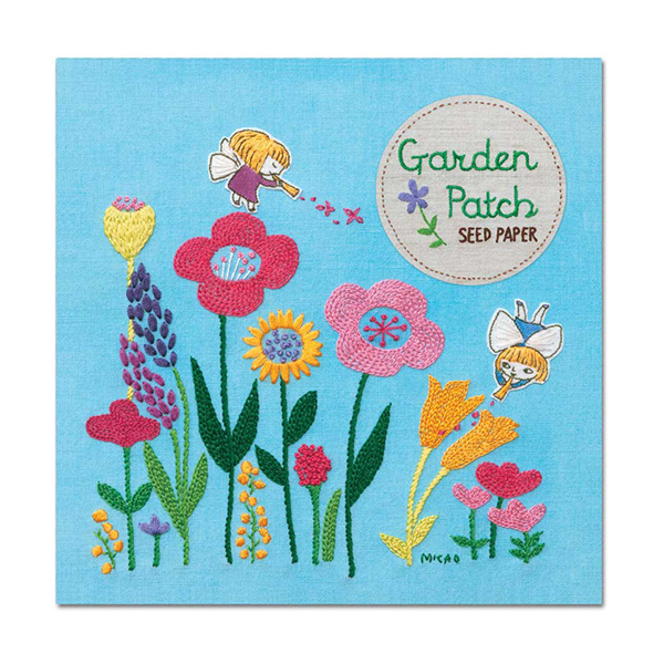 Garden patch mixed wildflowers seed paper