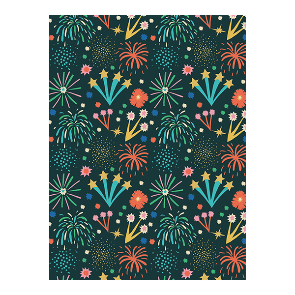 Fireworks gift wrap (single sheet)