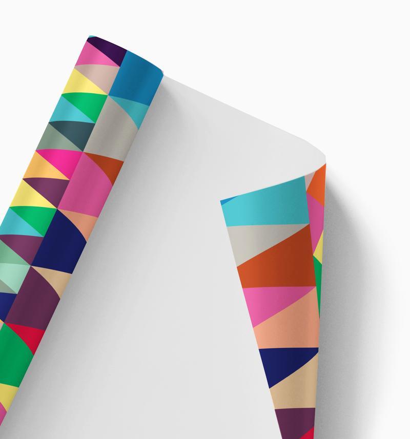 Colourful geometric gift wrap (single sheet)