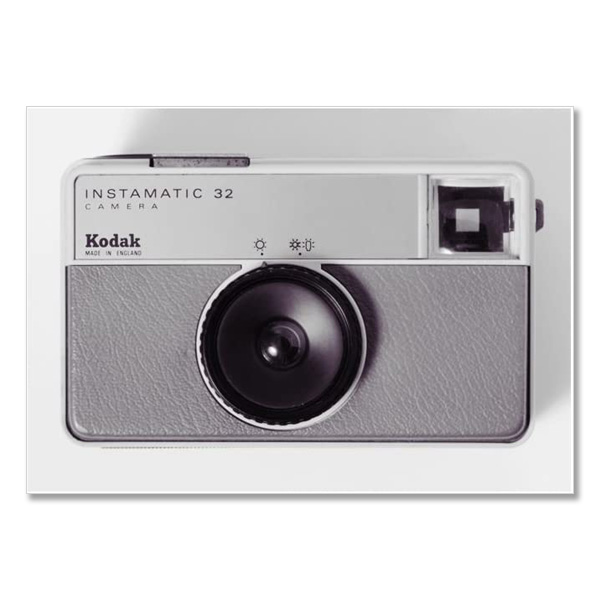 Kodak Instamatic 32 vintage camera by Antony Nobilo single greeting card