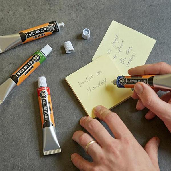 Dutch master paint tube pen (red)